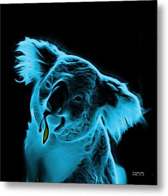 Koala Pop Art - Cyan Metal Print by James Ahn