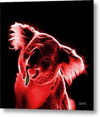 Koala Pop Art - Red Metal Print by James Ahn