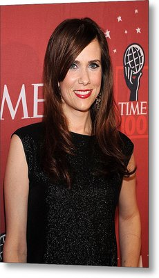 Kristen Wiig At Arrivals For Time 100 Metal Print by Everett