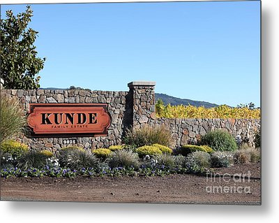 Kunde Family Estate Winery - Sonoma California - 5d19316 Metal Print by Wingsdomain Art and Photography