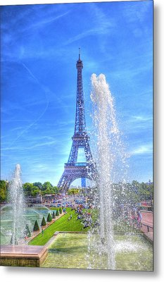 La Dame De Fer Metal Print by Barry R Jones Jr