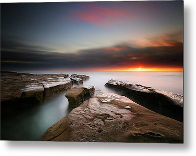 La Jolla Reef Sunset 7 Metal Print by Larry Marshall