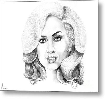 Lady Gaga Metal Print by Murphy Elliott