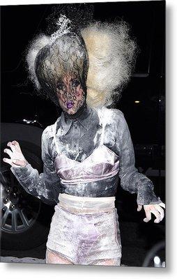 Lady Gaga Wearing A Marc Jacobs Bra Metal Print by Everett