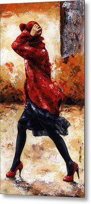 Lady In Red 28 Metal Print by Emerico Imre Toth
