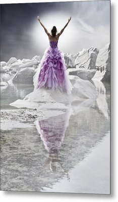 Lady On The Rocks Metal Print by Joana Kruse