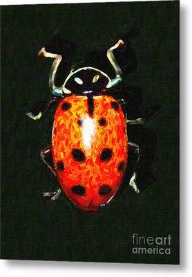 Ladybug Metal Print by Wingsdomain Art and Photography