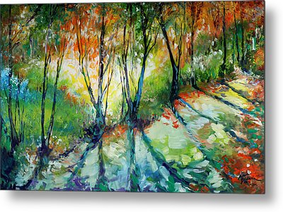 Lake Forest Hills Metal Print by Marcia Baldwin