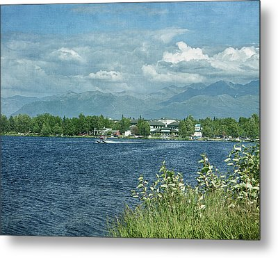 Lake Hood Anchorage Alaska Metal Print by Kim Hojnacki