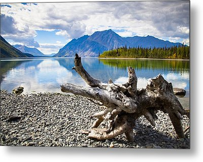 Lake Kathleen In Kluane National Park Metal Print by Blake Kent