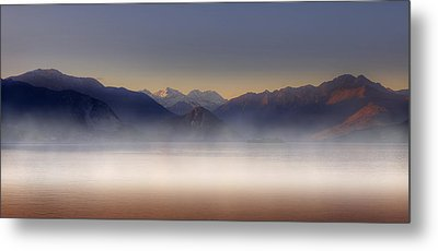 Lake Maggiore And Alps Metal Print by Joana Kruse