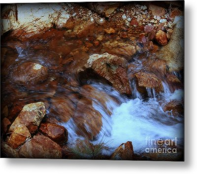 Lake Shasta Waterfall  Metal Print by Garnett  Jaeger