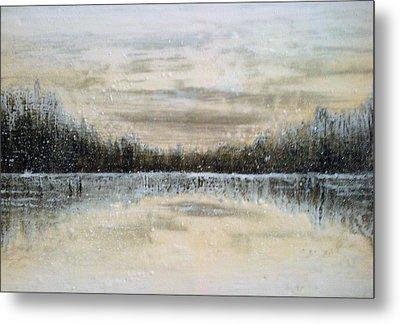 Lake Wylie Snow Metal Print by Jackie Dunford