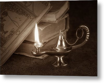 Lamp Of Learning Metal Print by Tom Mc Nemar