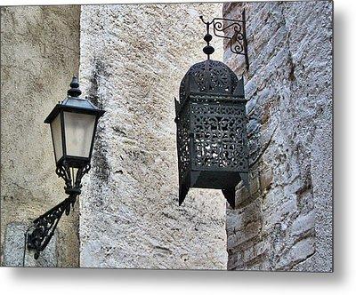 Lamp On Wall Metal Print by Jordi Sardà López