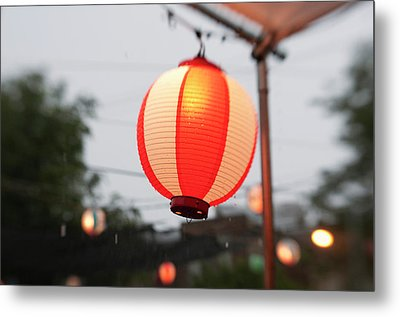 Lantern At Ginza Festival Metal Print by Seeing Is Believing.