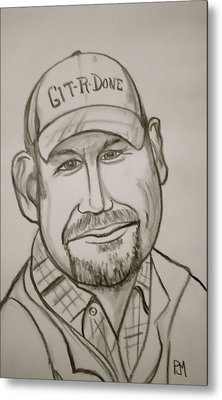 Larry The Cable Guy Metal Print by Pete Maier