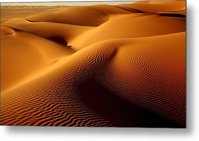 Last Light In The Ubari Sand Sea, Libyan Sahara Metal Print by Joe & Clair Carnegie / Libyan Soup