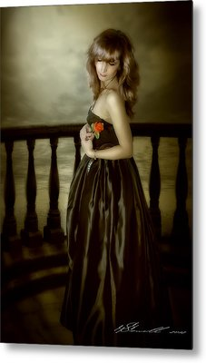 Last Red Rose Metal Print by Svetlana Sewell