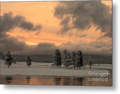 Late Spring Storm In Yellowstone Metal Print by Sandra Bronstein