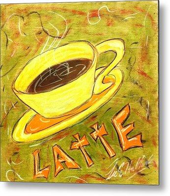 Latte Metal Print by Lee Halbrook