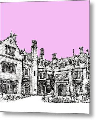 Laurel Hall In Pink Metal Print by Building  Art
