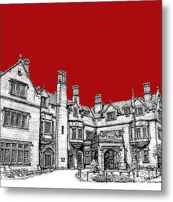 Laurel Hall In Red Metal Print by Building  Art