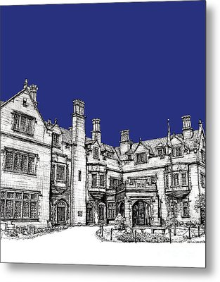 Laurel Hall Royal Blue Metal Print by Building  Art