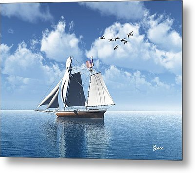 Lazy Day Sail Metal Print by Julie Grace