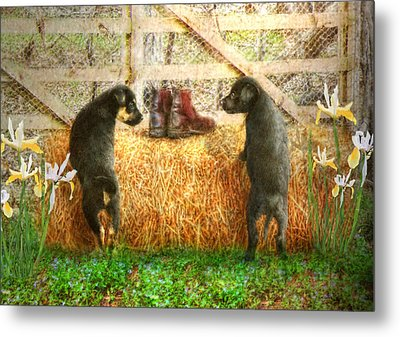 Lead Me Not Into Temptation  Metal Print by Trudi Simmonds