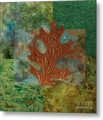 Leaf Life 01 - Green 01b2 Metal Print by Variance Collections