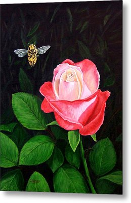 Leave My Rose Alone Metal Print by Jim Ziemer