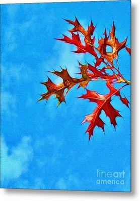 Leaves Against The Sky Metal Print by Judi Bagwell