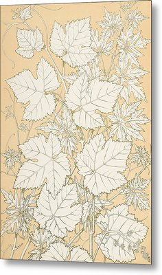 Leaves From Nature Metal Print by Christopher Dresser