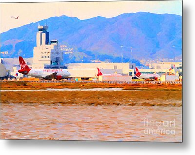 Leaving On A Jet Plane . 7d12335 Metal Print by Wingsdomain Art and Photography