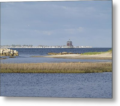 Ledge Lighthouse Metal Print by Patricia McKay