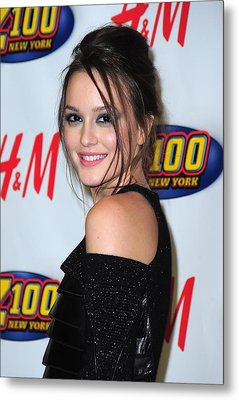 Leighton Meester In Attendance Metal Print by Everett