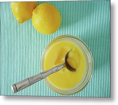 Lemon Curd Metal Print by Kate Brittle