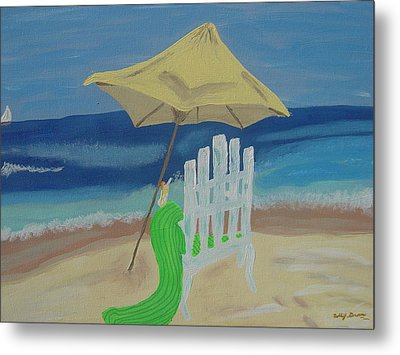 Lemonade On The Beach Metal Print by Bobbi Groves