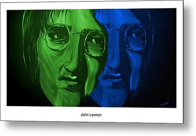 Lennon Metal Print by Mark Moore
