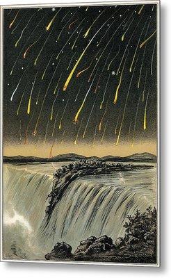 Leonid Meteor Shower Of 1833, Artwork Metal Print by Detlev Van Ravenswaay
