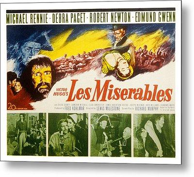 Les Miserables, Michael Rennie, Debra Metal Print by Everett