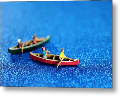 Let's Boating Together Metal Print by Paul Ge