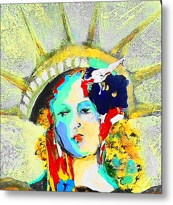 Liberty Metal Print by Claire Sallenger Martin