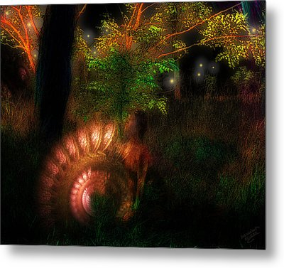 Lichtwesen Metal Print by Mimulux patricia no