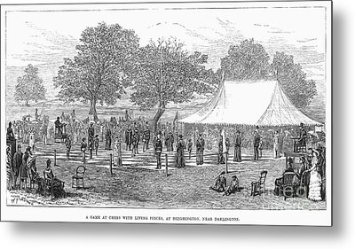 Life-sized Chess, 1882 Metal Print by Granger