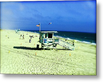 Lifeguard Shack Metal Print by Scott Pellegrin