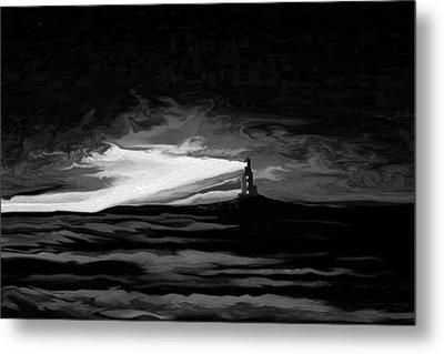 Light In The Storm Metal Print by Sheri Strang