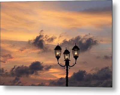 Lighted Sky Metal Print by Michael Green