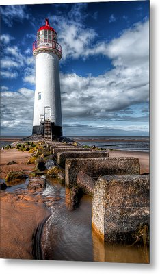 Lighthouse Entrance Metal Print by Adrian Evans